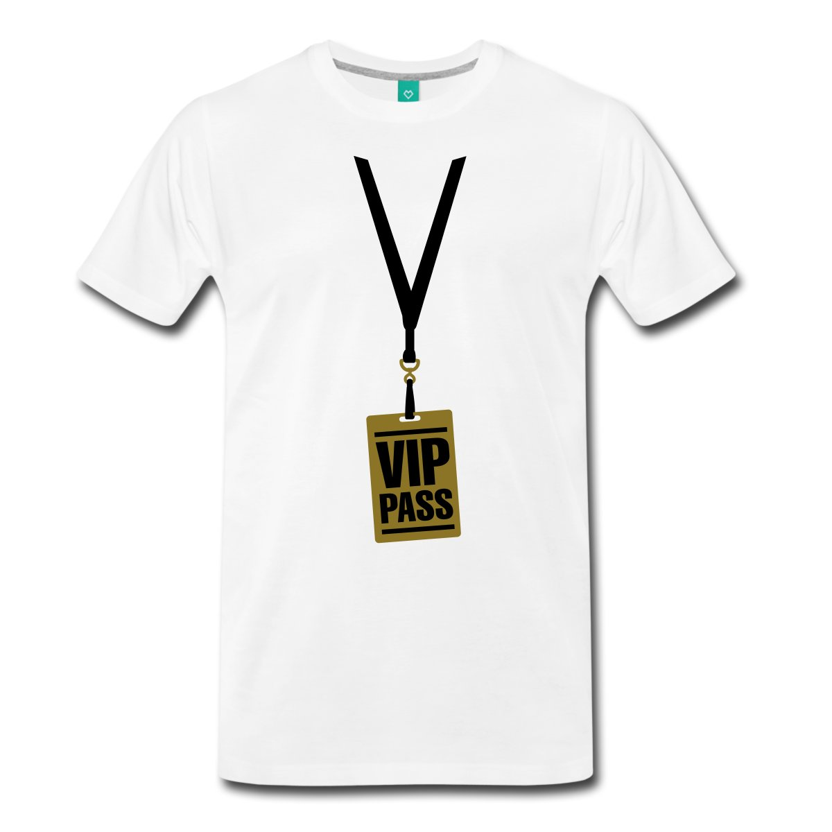 vip_pass_gold_black_vector Mens T-Shirt Short Sleeve O-Neck Cotton T shirt Brand Cotton Men Clothing Male Slim Fit T Shirt