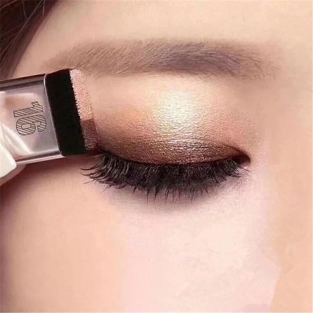 BOB doble Color de moda para mujer sombra de ojos perezoso sombra maquillaje paleta impermeable brillo sombra de ojos brillo cosméticos Coreanos