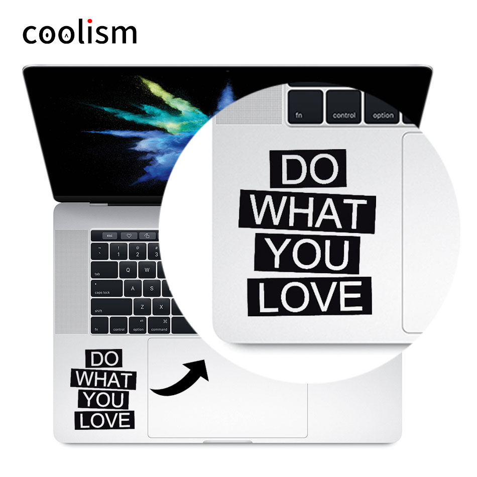 Inspired Quote Vinyl Laptop Decal Trackpad Sticker for 11 12 13 15 inch Macbook Skin Pro Air Retina Mac Notebook Touchpad Decal