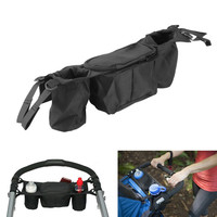 Baby Stroller Organizer Cooler And Thermal Bags For Mummy Hanging Carriage Pram Buggy Cart Bottle Black
