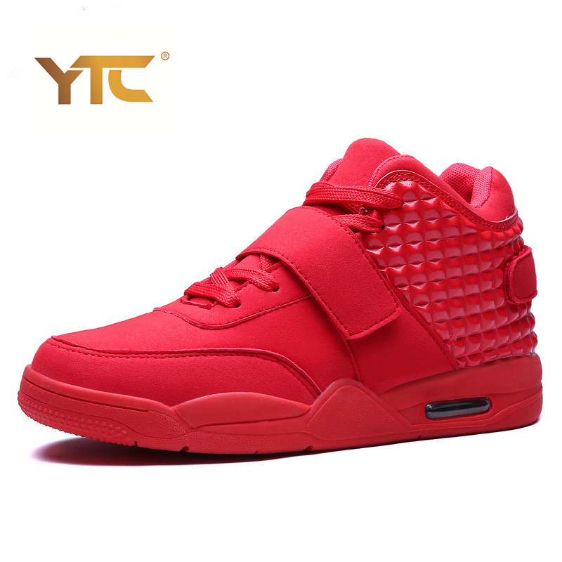ФОТО Best New 2016 Men Casual Shoes Red Suede Leather Men High Top Casual Shoes Breathable Winter Men shoes Red Botas Blue