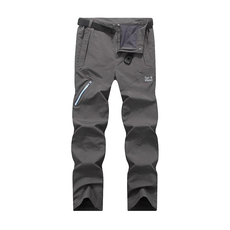 2019 Autumn Men Women Skateboards Climbing Pants Soft shell Waterproof Fleece Warm Trousers Hiking Hunting Cycling Pants