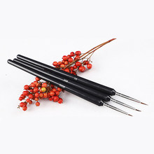 ELECOOL 3 Pcs /set Dotting Painting Drawing UV Gel Liner Polish Brush Tool Nail Art Pen nail art pen 3d Nail Brush Dropshipping(China)