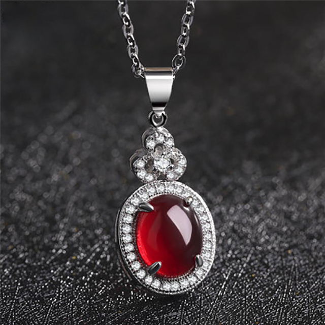 High quality natural garnet pendant lady real pure 925 sterling high quality natural garnet pendant lady real pure 925 sterling silver jewelry beautiful water drop for aloadofball Images