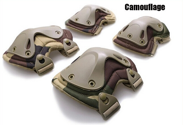 X-type Camouflage Military Tactical Knee Elbow Pads Multicam Transformer Protector Support Outdoor CS War Game Paintball Kneepad