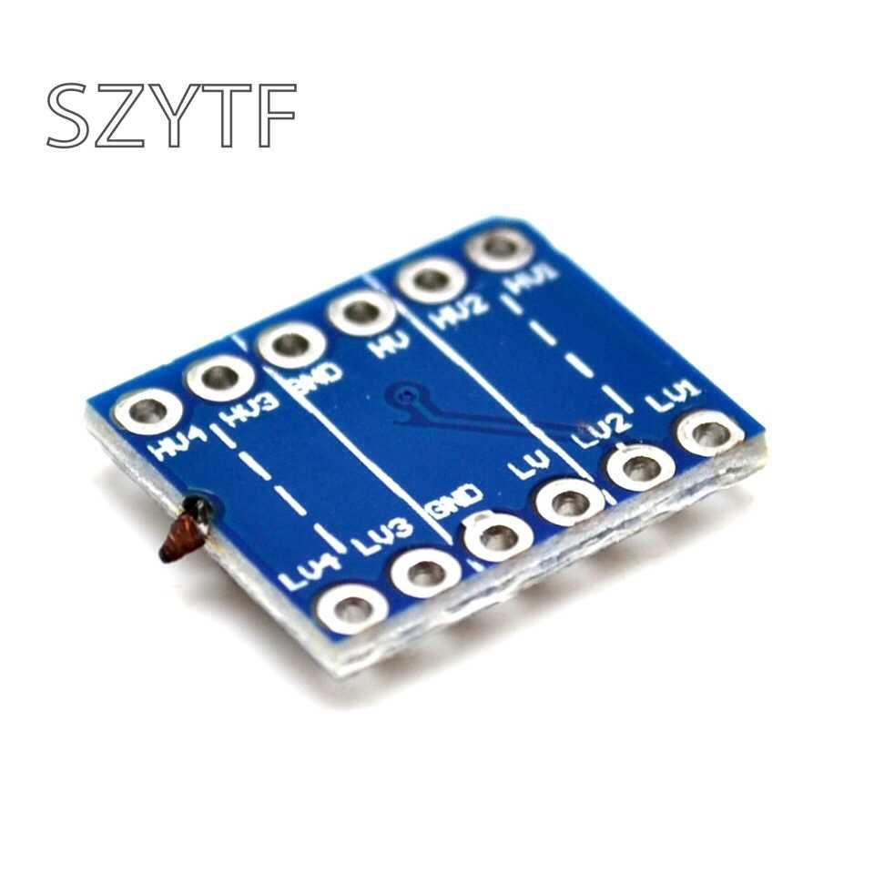 5 قطعة 4 قناة IIC I2C UART SPI المنطق مستوى محول ثنائية الاتجاه وحدة 5 فولت إلى 3.3 فولت أداة