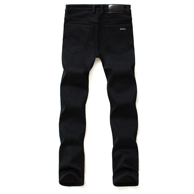 Brands Jeans Trousers Men Clothes 2018 New Black Elasticity Skinny Jeans Business Casual Male Denim Slim Pants Classic Style 3
