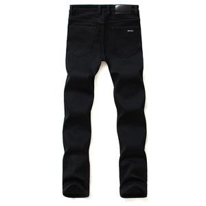 Image 3 - Marki spodnie jeansowe męskie ubrania 2020 nowe czarne elastyczność obcisłe dżinsy rurki Business Casual męskie spodnie jeansowe obcisłe spodnie w stylu klasycznym