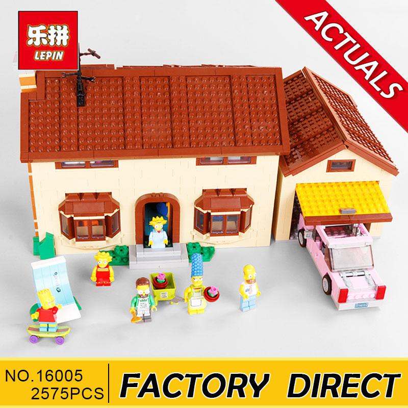 Lepin 16005 Simpsons House 2575Pcs Model Building Block Bricks Compatible legoed 71006 Boy gift цена