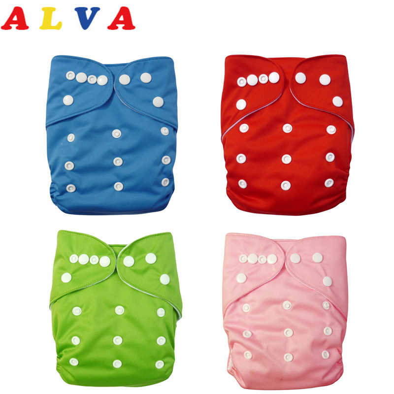 ALVA 2018 Free Shipping 20pcs One Size Fits All Wholesale Modern Cloth Nappy with 20pcs Microfiber Insert-in Baby Nappies from Mother & Kids    1