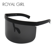 ROYAL GIRL Vintage Extra Oversize Shield Visor Sunglasses Wo