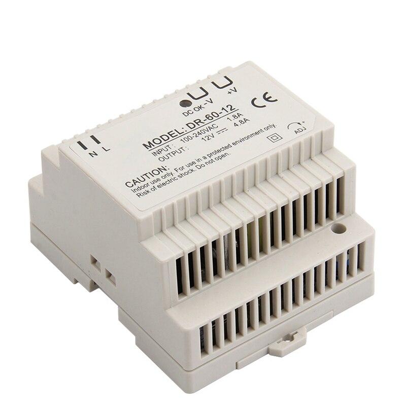 DR-60 Hutschienen-netzteil 60 Watt 12 V 4.5A, Schaltnetzteil AC 110 v/220 v transformator Zu DC 12 v, ac dc-wandler
