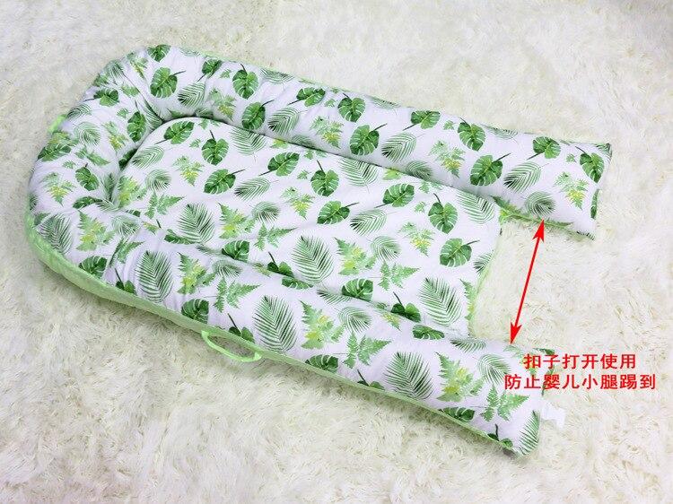 80*50 cm bébé nid lit Portable berceau lit de voyage infantile bambin coton berceau pour nouveau-né bébé couffin pare-chocs - 6