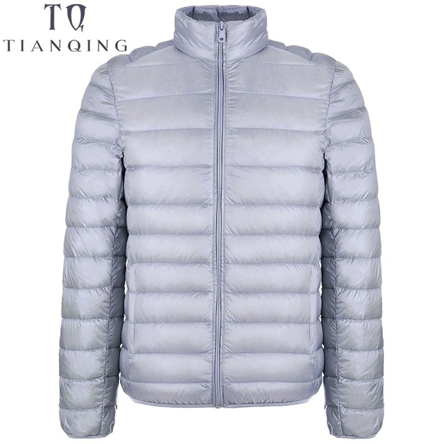 Autumn Winter Lightweight Thin 90% White Duck Down Jacket Men Casual Ultralight Male Feather Jackets Coat Ultra Light