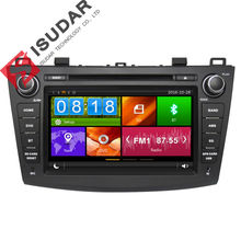Two Din 8 Inch Car DVD Player For Mazda 3 2010- With Canbus 3G USB Host Radio GPS Navigation RDS Bluetooth 1080P Ipod Free Map