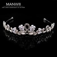 Korean High End Bride Hoop Crown Princess Crown Wedding Headdress Zircon Simple Accessories Ha20072