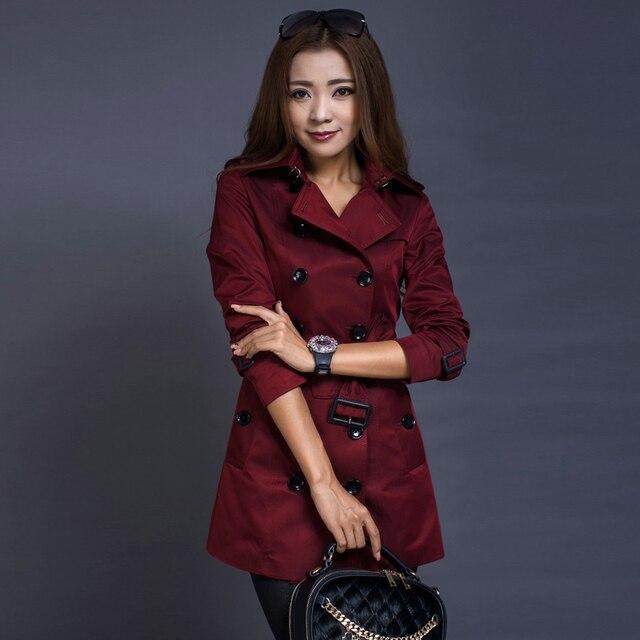 Средней длины пиджак женский 2016 весна мода тонкий двубортный дамы пальто с длинным рукавом женские куртки как подарок бесплатно доставка