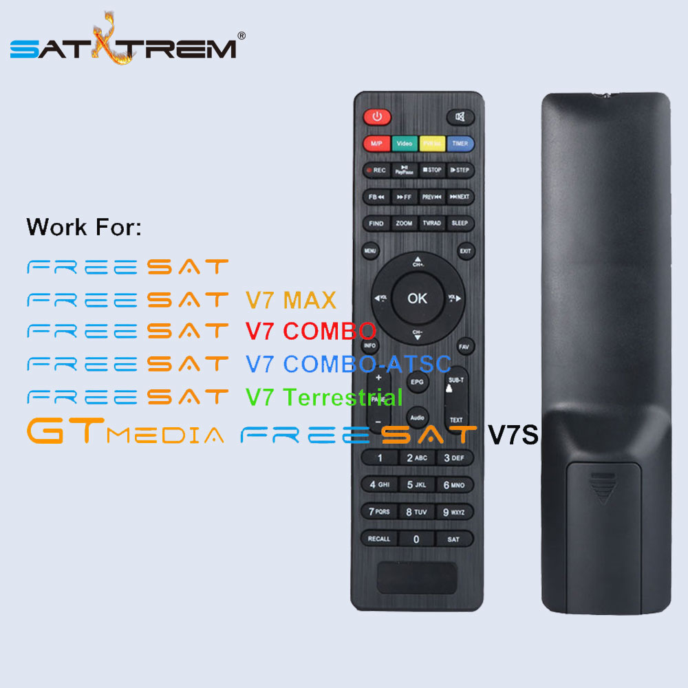 Satxtrem HD DVB S2 DVB T2 Satellite TV Receiver Remote Control for Freesat V7 HD V7 Max V7 Combo GTmedia V7S HD hellobox gsky v7 5pcs hd powervu autoroll iks ccam dvb s2 receiver tv box better than freesat support tandberg patch