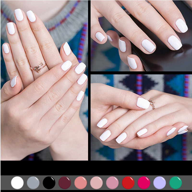 Candy Lover French Manicure Nail Tips White Gel Nail Polish 8ml Soak ...