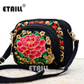 Boho Ethnic Embroidery Bag Hmong Handmade Embroidered Canvas Shoulder Messenger Bags Small Brand Crossbody Bags Sac a Dos Femme