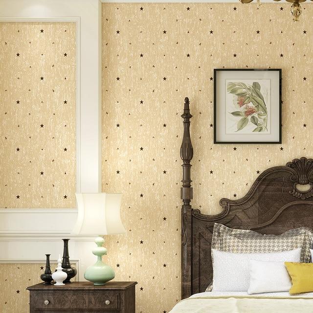 Papier peint Moderne Gelbe Star Wallpaper für Wände Vliestapete ...