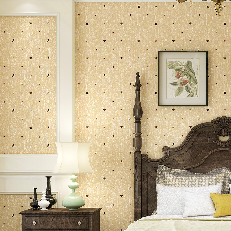 papier peint Modern Yellow Star Wallpaper for Walls Non Woven Wall Paper Bedroom Wallpapers Roll Kids Room 3d wall Wallpaper rustic wallpaper 3d stereoscopic wallpaper roll non woven pastoral wallpaper for walls bedroom wall paper pink for living room