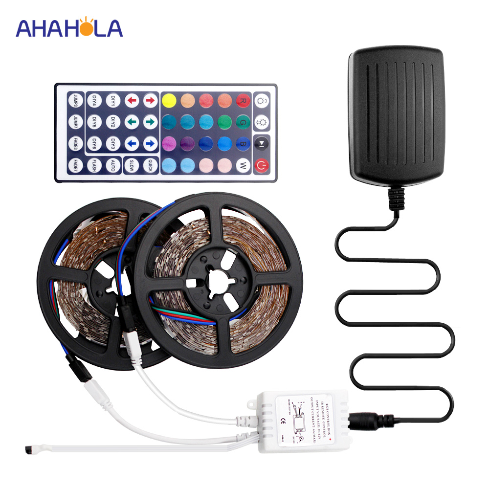 12v Led Strip Light 5m 10m Rgb Led Tape 60 pcs/m SMD 2835 Rgb Strip 12v Waterproof Led Flexible Strip Light DC12v Ledstrips good group diy kit led display include p8 smd3in1 30pcs led modules 1 pcs rgb led controller 4 pcs led power supply