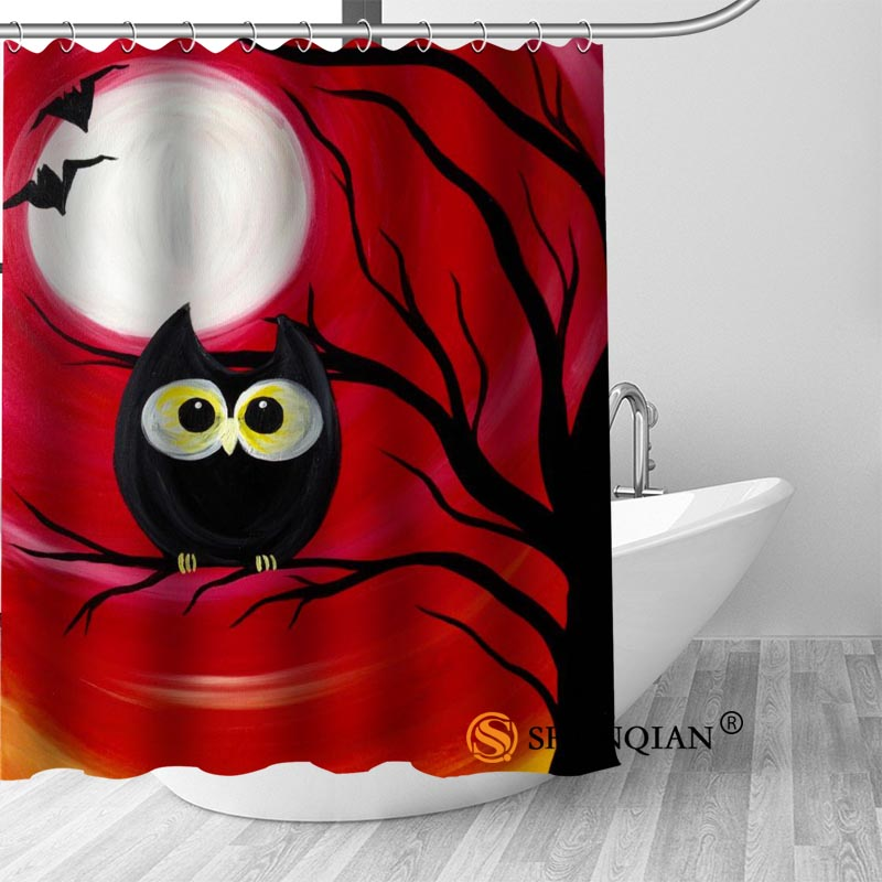 New High Quality Modern Printed Owl Painting Shower Curtains Custom Design Creative Curtain Bathroom Polyester Fabric In From Home
