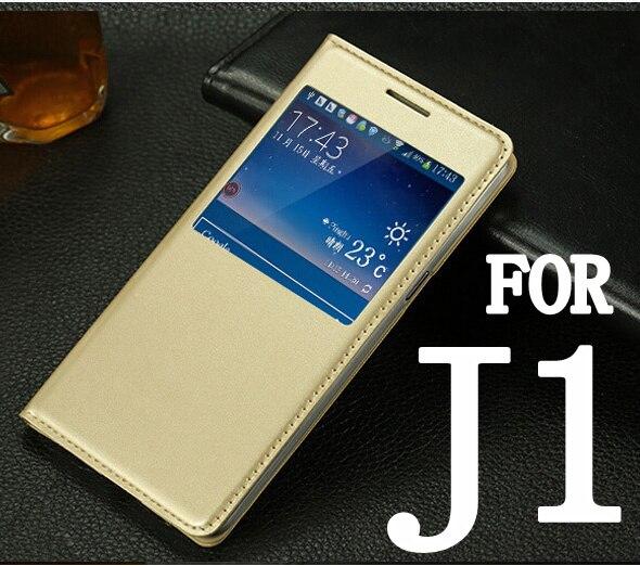 Для Samsung Galaxy J1 J100 j100f j100h роскошь задняя крышка ультра тонкая кожа Вид из окна флип кожаный чехол