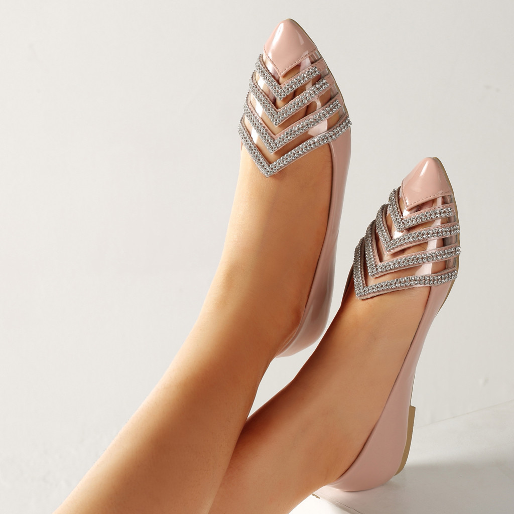 Femme En De Verni Chaussures Simples Zapatos Dames Confortable rose Mujer bleu Pointu Cuir Plates Casual Noir FWdq4Yw