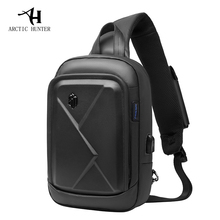 0ead43ee75da Арктический Охотник Новая мужская сумка на груди сумка на плечо  Повседневная сумка-мессенджер Молодежная деловая дорожная сумка .