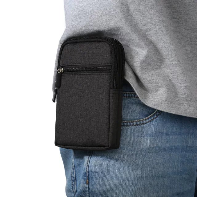Outdoor Holster Waist Belt Pouch Wallet Phone Case Cover Bag <font><b>For</b></font> <font><b>Alcatel</b></font> One Touch Idol 2 Mini 6016 <font><b>6016D</b></font> 6016A 6016E 6016X image