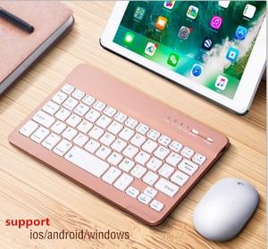 Image 1 - 8/9/10 pulgadas Mini Bluetooth Tastatur Wireless Für iPad Apple iPhone Tablet Android Smart Telefon Windows iOS tragbare Tastatur