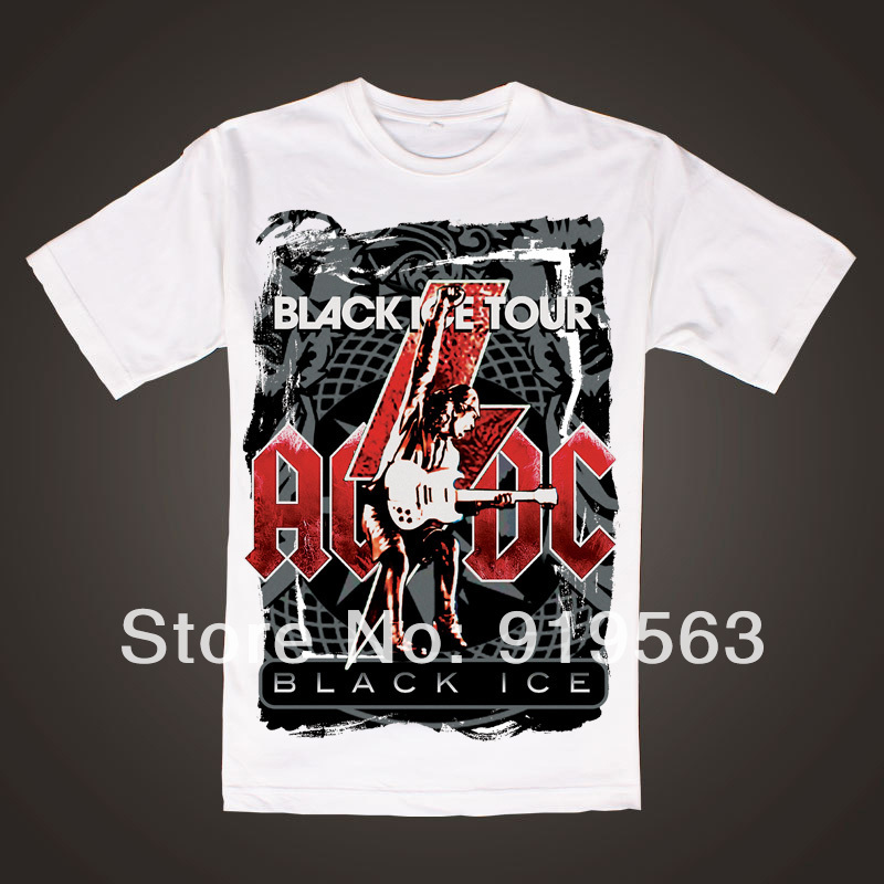Hard rock band AC/DC stiff upper lip men black tee image