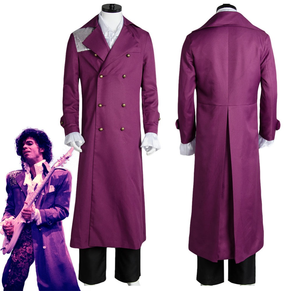 Prince Rogers Nelson in Purple Rain Cosplay Costume Whole Set Halloween Party Costume For Adult Men