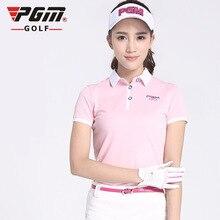 PGM одежда для гольфа женские футболки для гольфа летние дышащие быстросохнущие гольф с короткими рукавами Новое поступление Размер s-xl