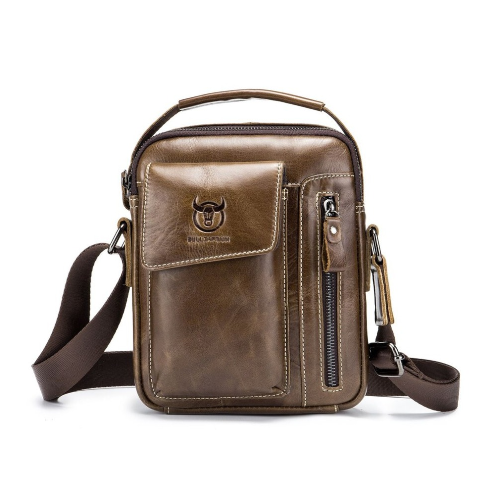 Fashion Business Cow Leather Men Shoulder Bag Casual Men Messenger Bags Vintage Mens Cro ...