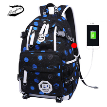 купить FENGDONG Men Waterproof Oxford Bookbag New USB Charging Travel Laptop Backpack Durable School Bag For Teenage Kids Work Bagpack по цене 1720.52 рублей