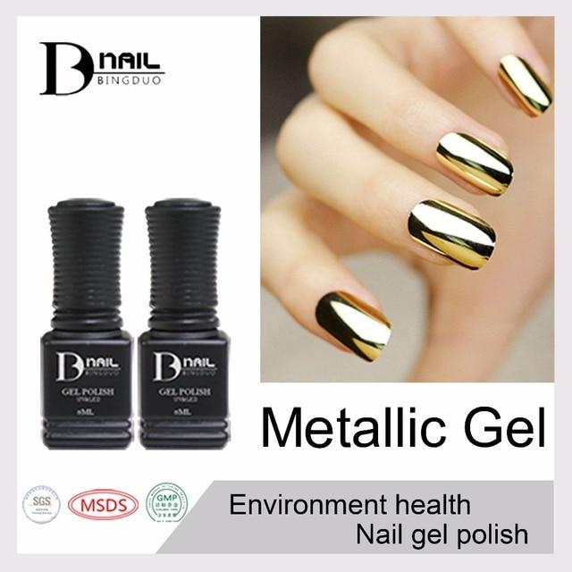 3 unids/lote BD 10 ml geles de color plata metálico de oro laca ...