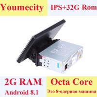 Youmecity 10.1 1Din Android 8.1 Car Multimedia Video Play Tap PC Tablet For Nissan GPS Navigation Radio Stereo Video Player