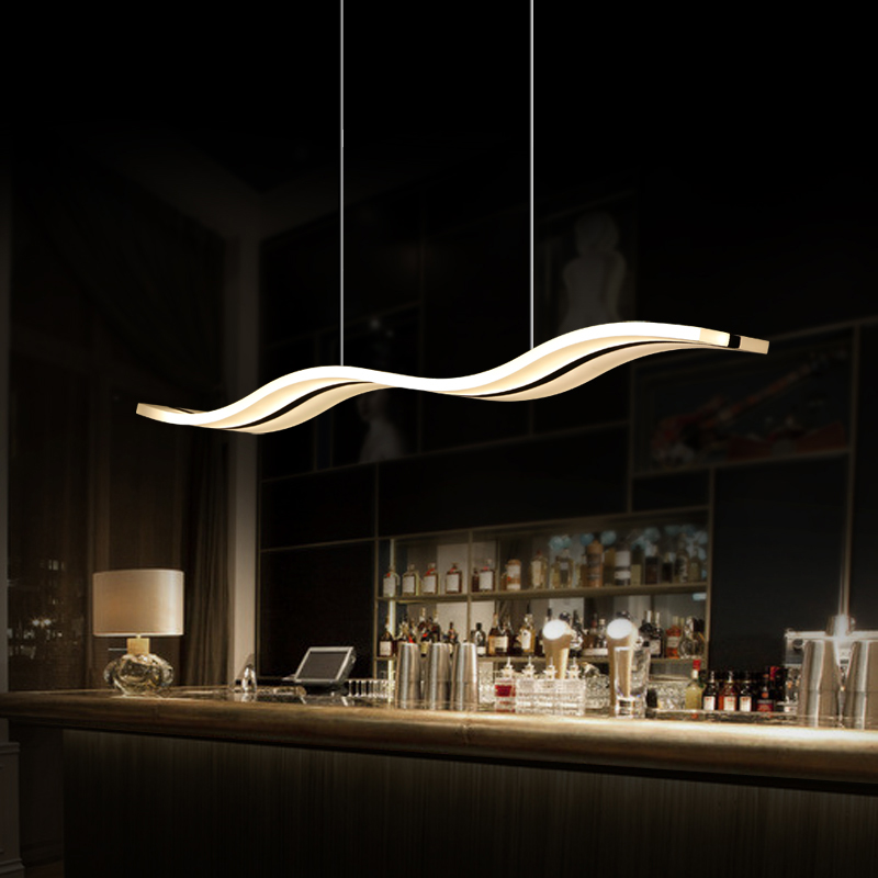 Buy modern led pendant lights for dining for Lampe de bar cuisine