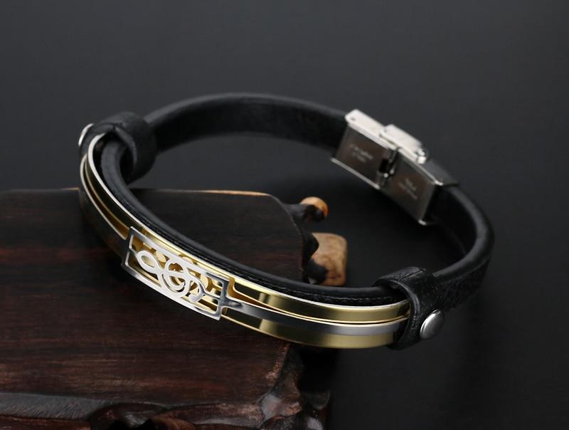 liujun Treble Clef Stainless Steel Musical Bracelet 5