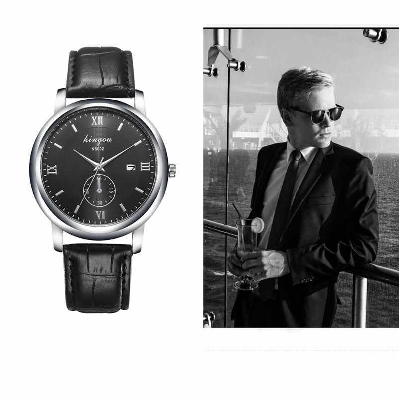 Venta caliente de los hombres reloj hombre diseño Retro de cuero banda analógica de aleación de cuarzo reloj de pulsera reloj Masculino Dropship hombre reloj X50
