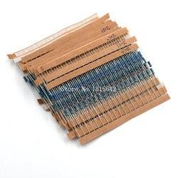 600 pçs/lote 1/4 w kit resistor filme de metal 1% resistor sortido kit conjunto 10 ohm-1M ohm resistência pacote 30 valores cada 20 peças