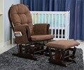 De Balanço De madeira Cadeira de Balanço E Otomano Mobília da Sala de estar Moderno e Ergonómico Amortecido Marrom Grande cadeira de Balanço Cadeira de Alimentação Do Bebê