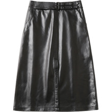 2018 New Fashion Genuine Sheep Leather Skirt H4