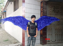 creative simulation show wings polyethylene&furs blue wings model doll about 135x55cm