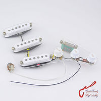 High Quality GuitarFamily Wiring Harness SSS Alnico Bar Electric Guitar Pickup For Fender Strat Style White