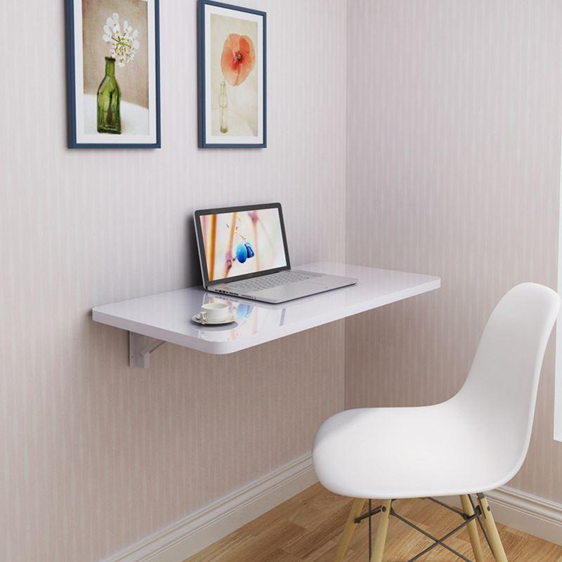 Escritorio de la computadora plegable de pared minimalista - Escritorio pared ...