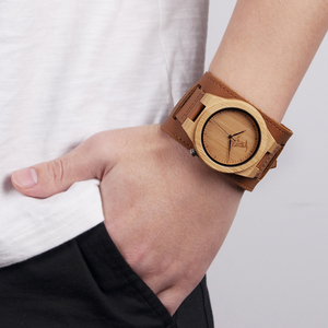Image 5 - Relogio masculino בובו ציפור במבוק גברים שעון עץ שעונים קוורץ שעונים אישית לוגו מקבלים זרוק חינם